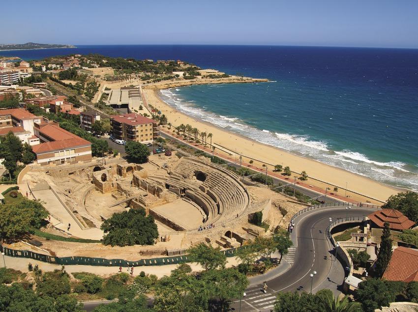 Vista aèria de l'anfiteatre romà de Tarragona.