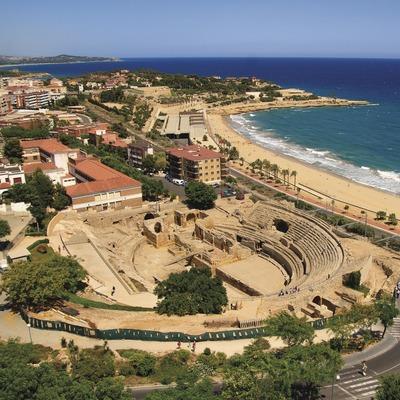 Vista aèria de l'anfiteatre romà de Tarragona. (Nuria Puentes)