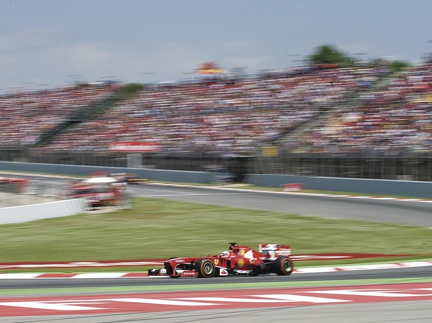 Carrera Formula 1 al circuit de Catalunya, Fernando Alonso, Ferrari.