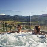 spa a la terrassa de l'Hotel Muntanya. Prullans (La Cerdanya). (Oriol Clavera)