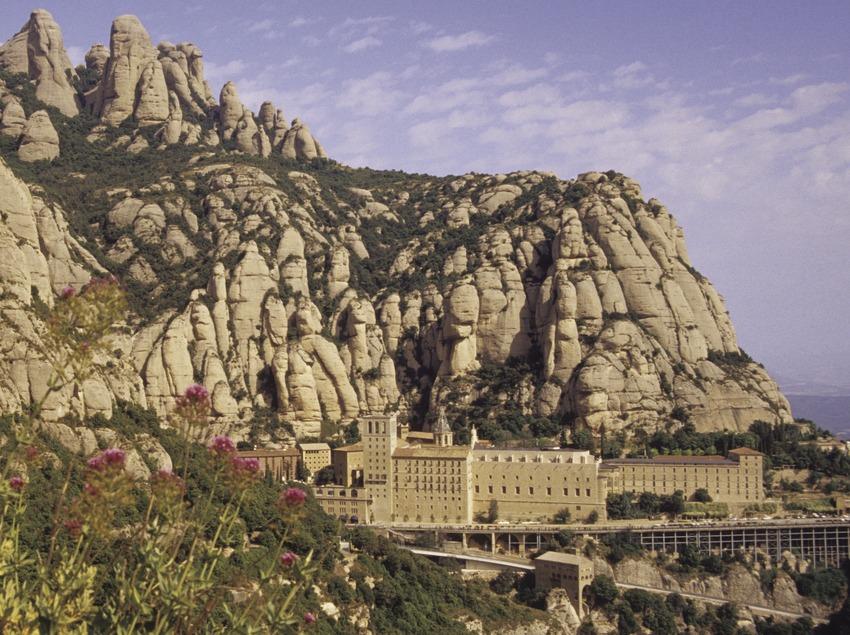 Vista del monasterio de Montserrat.
