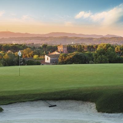 Vista general del camp de golf El Prat