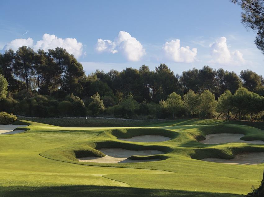 Vista general del campo de golf El Prat