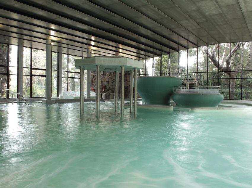 Instal·lacions termals de l'hotel Termes de Montbrió.  (Tina Bagué)