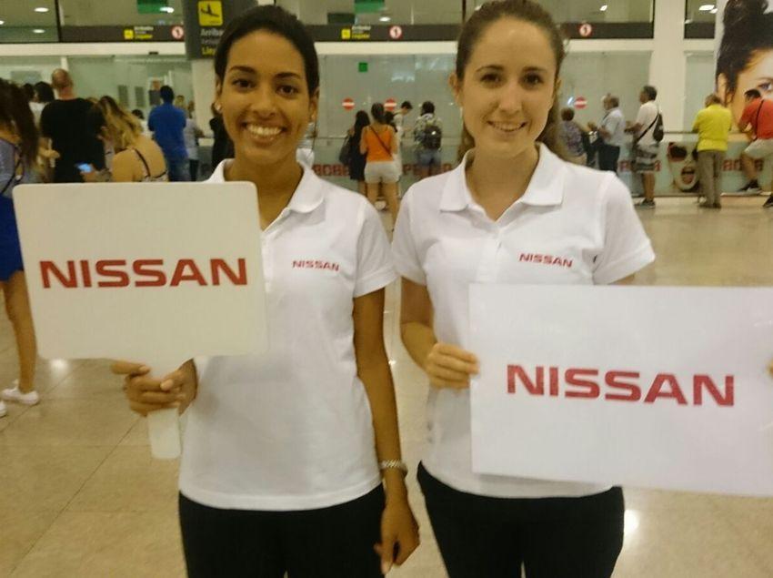 Hostesses en campanya de publicitat.