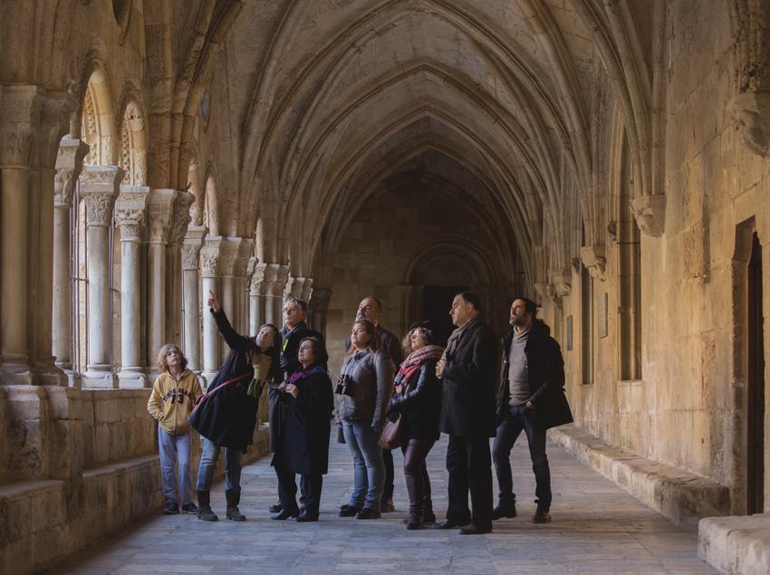 Visitantes en la catedral de Tarragona