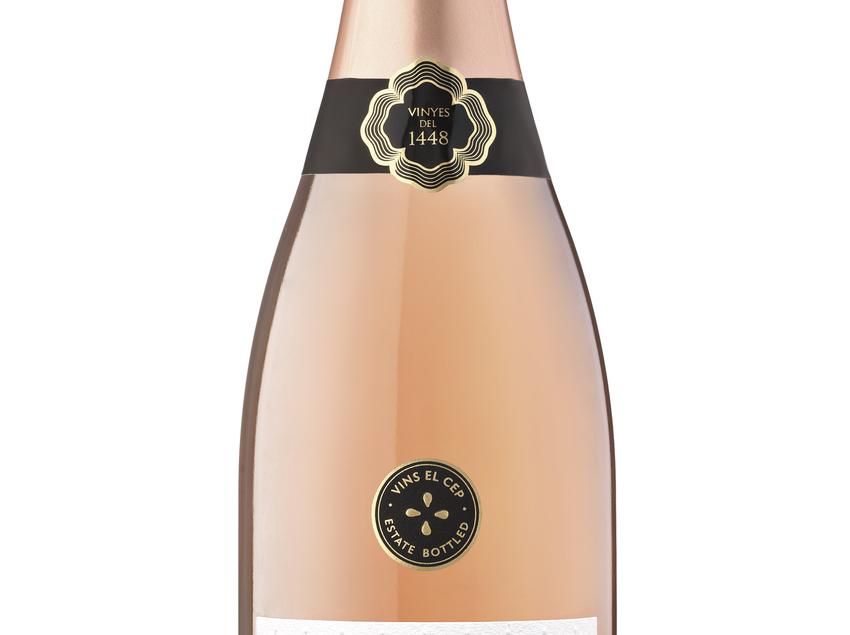 Ampolla del cava brut reserva dins de la marca MIM Natura Pinot Noir del celler Vins El Cep.