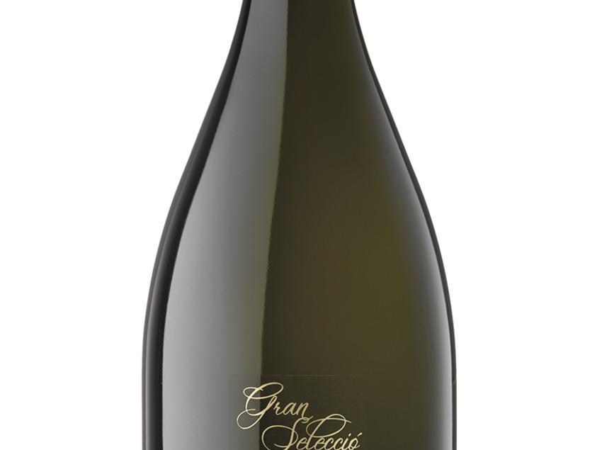Ampolla de cava Gran Selecció Blanc de Noirs dins de la marca Marquès de Gelida. Del celler Vins El Cep.
