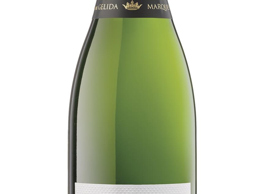 """Ampolla de cava Brut Nature Gran Reserva """"4 Heretats"""" dins de la marca Marquès de Gelida. Del celler Vins El Cep."""