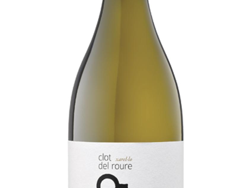 """Ampolla de vi blanc """"Xarel·lo"""" dins de la marca Clot del roure. Del celler Vins El Cep."""