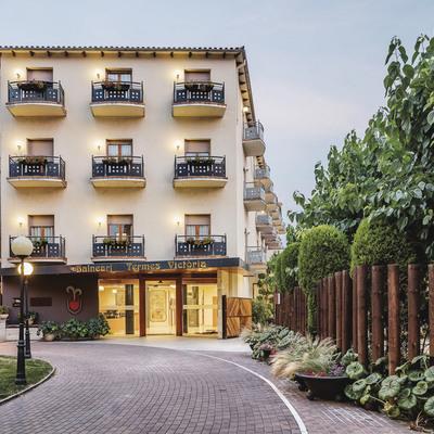 Entrada del hotel Balneari Termes Victòria.