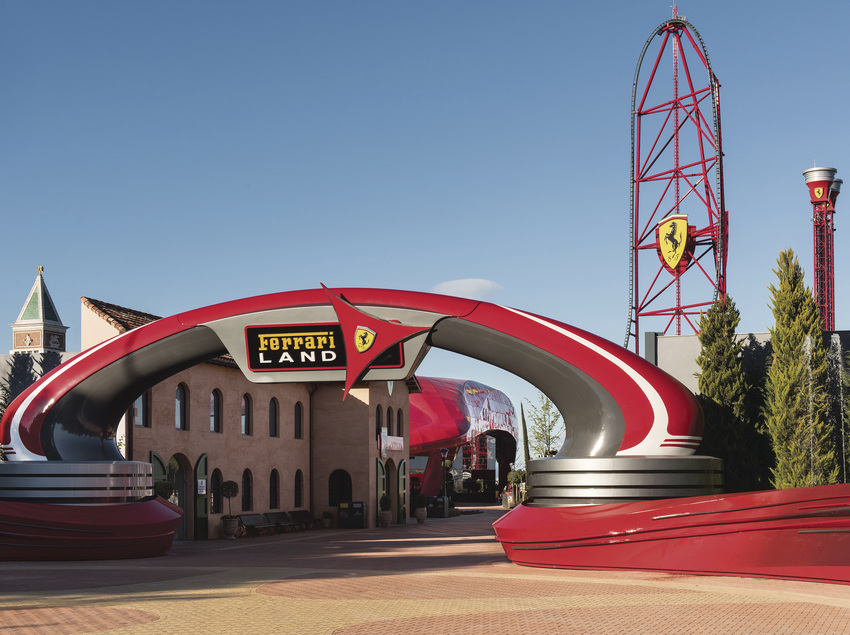 Entrada de Ferrari Land a PortAventura.