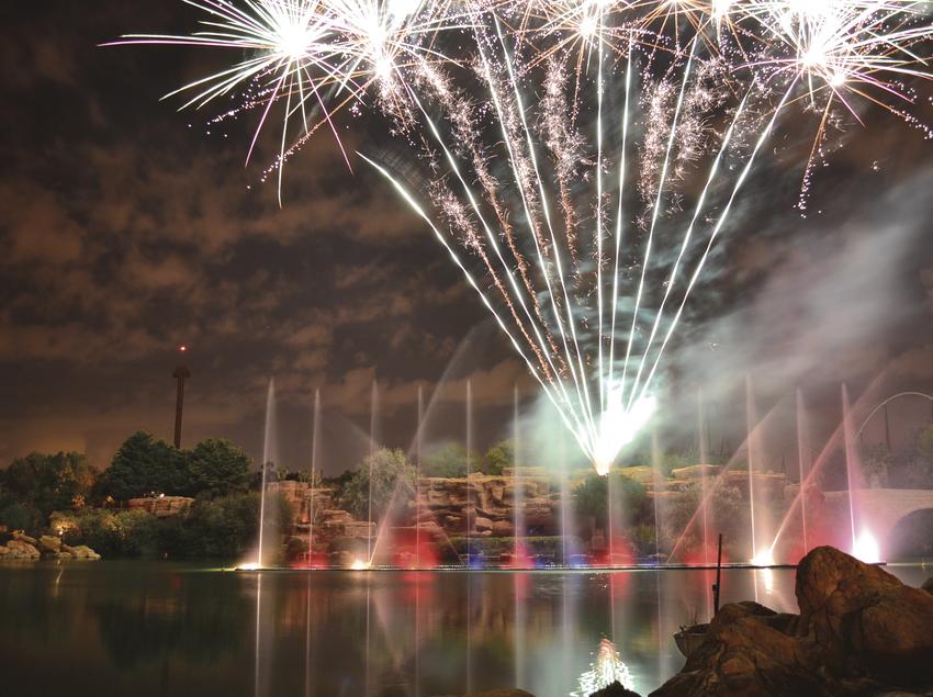 Focs artificials a PortAventura World.