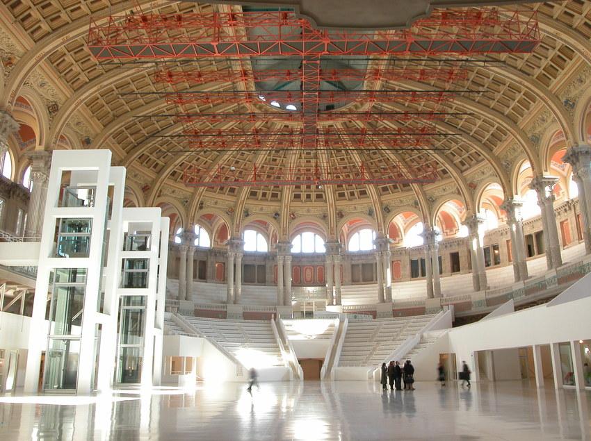 Interior del Museu Nacional d'Art de Catalunya.