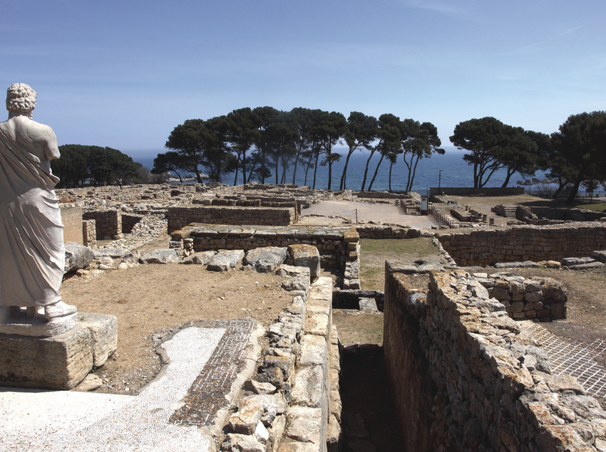 Yacimiento de las ruinas griegas de Empúries.