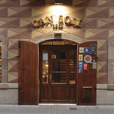 Entrada del restaurante Can Solé.