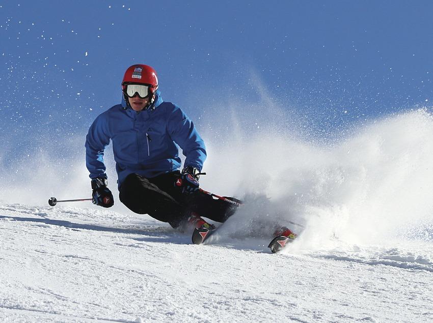 Esquiador a l'estació d'esquí de la Vall de Núria.