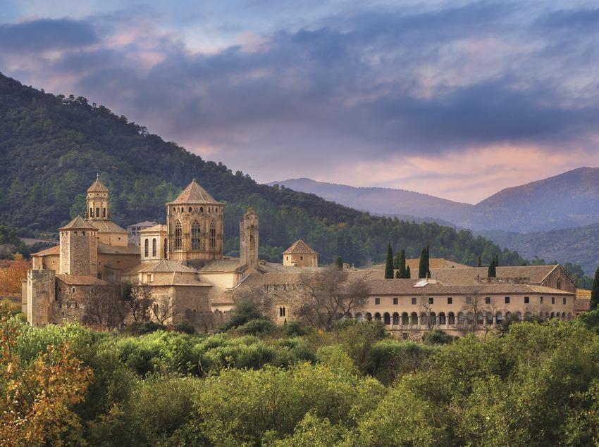 Vista general del Monestir de Poblet des de Les Masies. (Josep M. Palau Riberaygua)