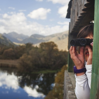 La Mollera d'Escalarre, on els més petits poden descobrir el món dels ocells. Parc Natural de l'Alt Pirineu. (Oriol Clavera)
