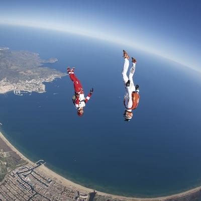 Competicions de paracaigudisme a Empuriabrava.