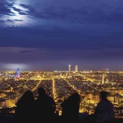Vista de Barcelona des del Turó de la Rovira.