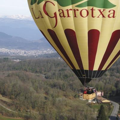 Vol en globus adaptat La Garrotxa. (Diego J. González Velasco)