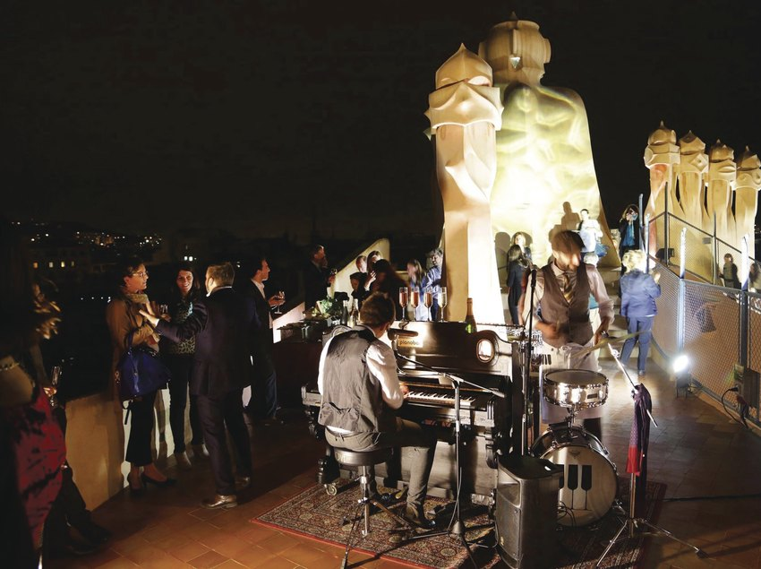 Private event at La Pedrera at night   (La Pedrera)
