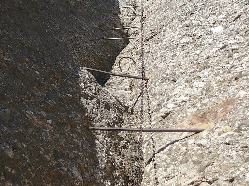 Part de la ruta ferrata de Montserrat