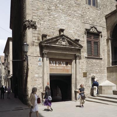 Entrada al Museu Frederic Marès.  (Nano Cañas)
