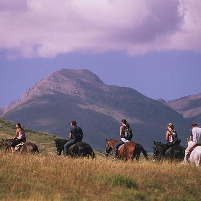 Hípica Sort-Pas a Pas, passejant a cavall