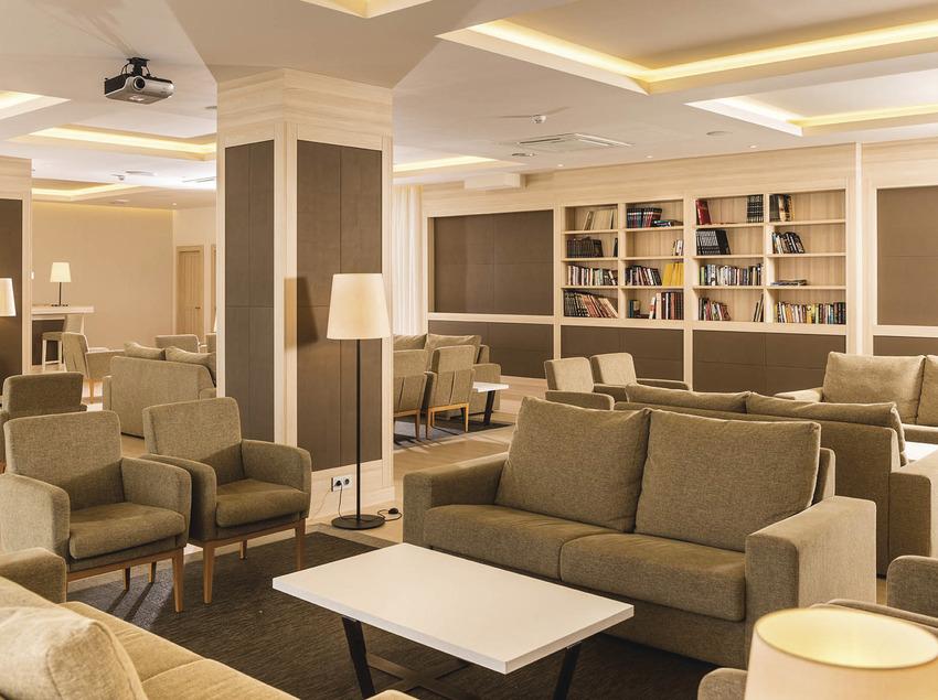Hotel Costa Encantada, sala de lectura.