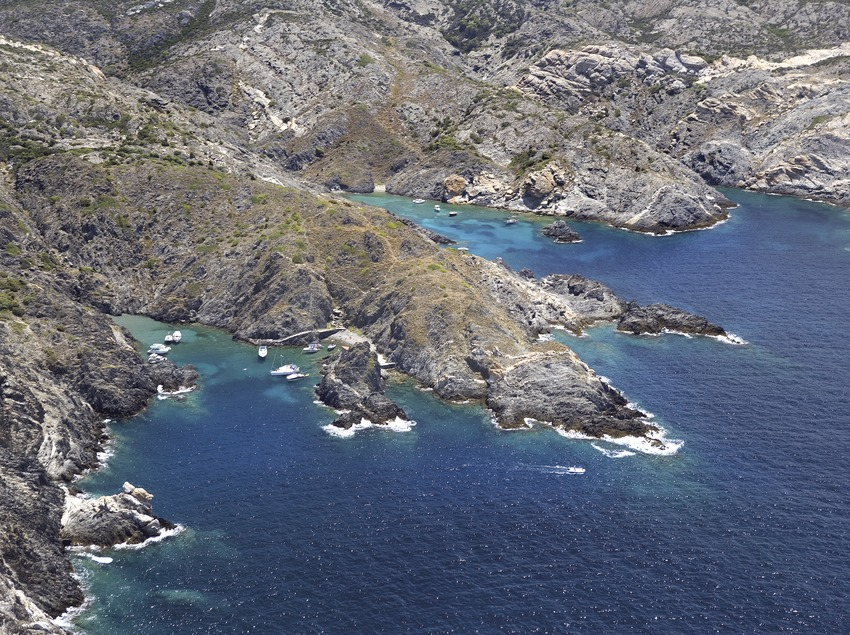 Cala del Golfet en el Cabo de Creus
