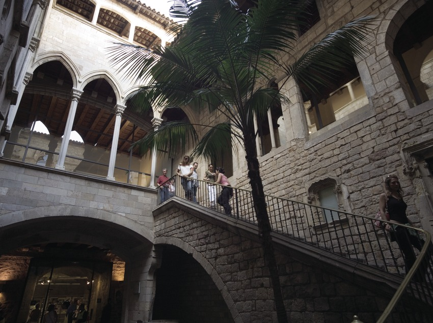 Pati del Palau Aguilar, seu del Museu Picasso.  (Nano Cañas)