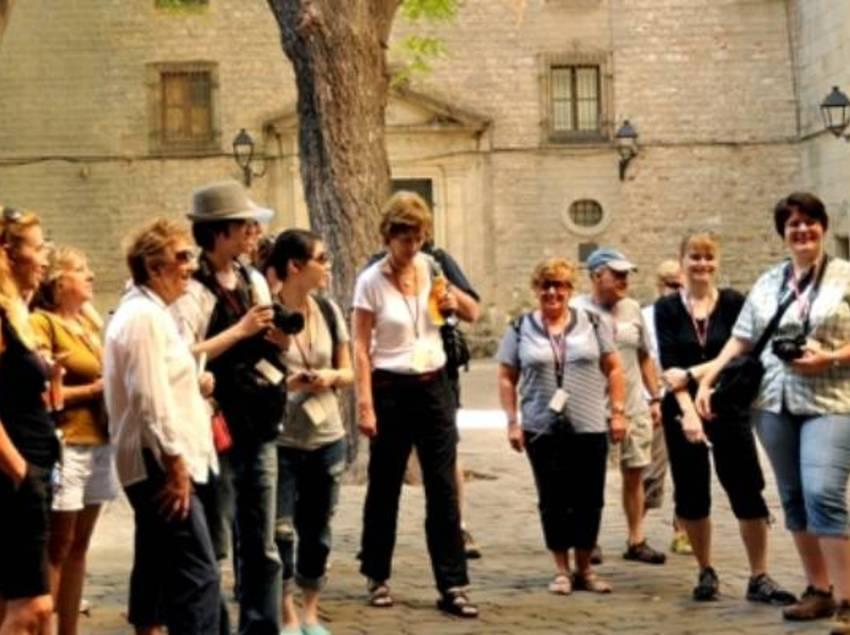 Grup de persones al Gòtic