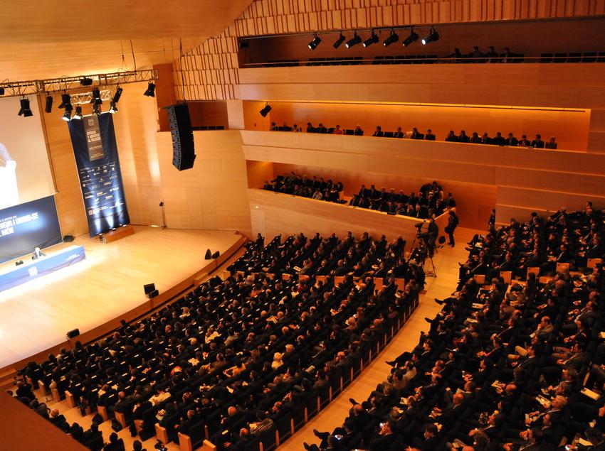 Sala simfònica del Palau de Congressos de Girona.