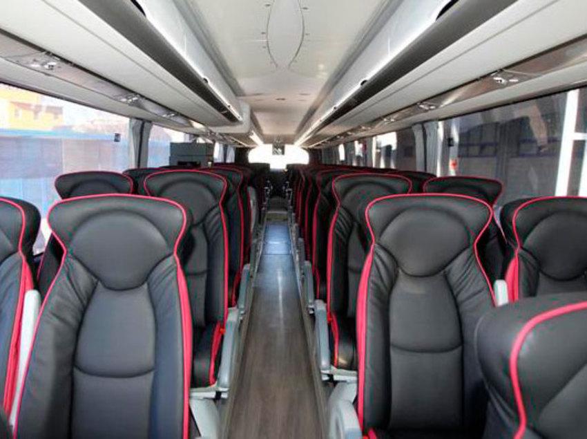 Interior de l'autocar del RCD Espanyol.