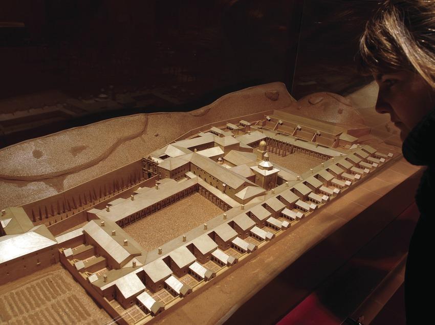 Maqueta de la Cartoixa d'Scala Dei  (Tina Bagué)