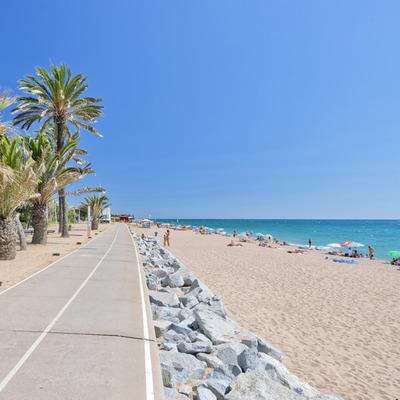 Passeig marítim i la platja de Pineda de Mar (Joan Ribot Garros)