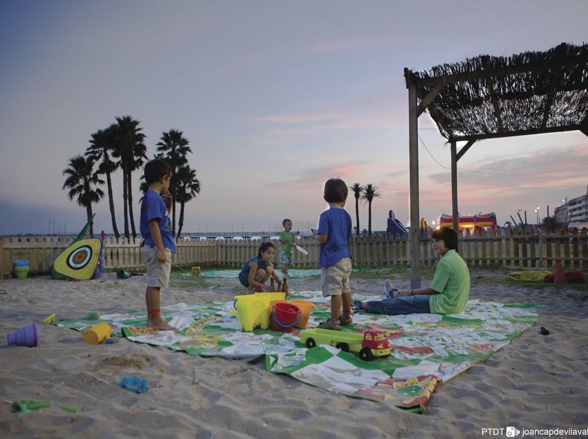 Ludoteca a la platja de Comaruga. El vendrell