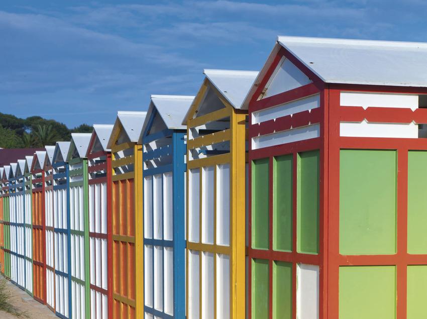 casetes de la platja de St. Pol, al costat de les dunes . (Xevi F. Güell)