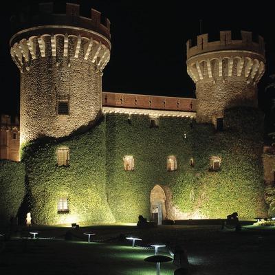 Vista nocturna del Casino.