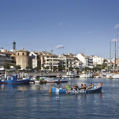 embarcaciones, puerto, cambrils, agua, mar