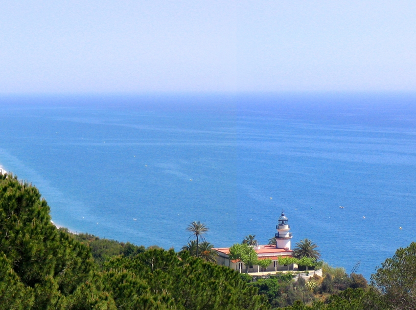 Vistas del mar y el Faro de Calella (Ajuntament de Calella)