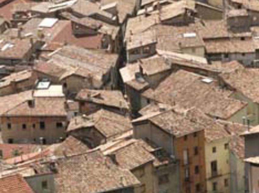 Vistes de les teules de les cases de Berga