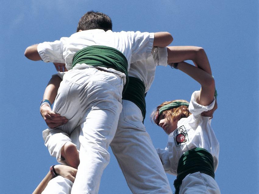 Les Falcons de Vilafranca dressant une tour humaine
