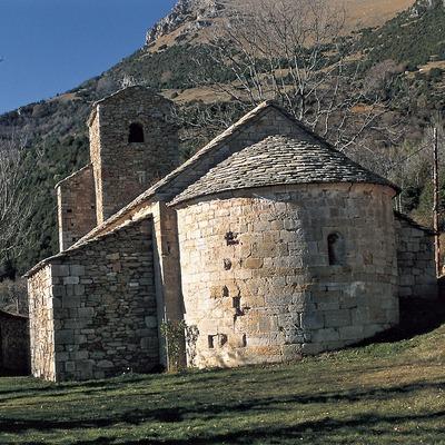 Église Sant Marti au pied de la sierra Cavallera