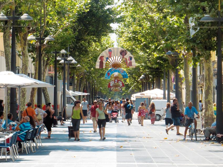 Calle Rambla principal de Vilanova i la Geltrú (Ajuntament de Vilanova i la Geltrú)