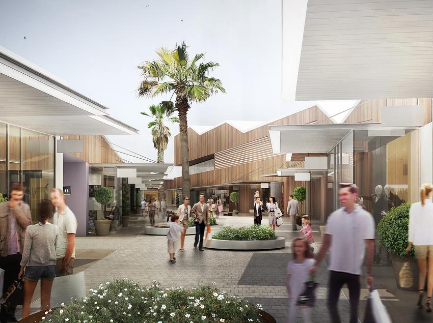 Vista de l'interior del centre comercial. (The Style Outlets )