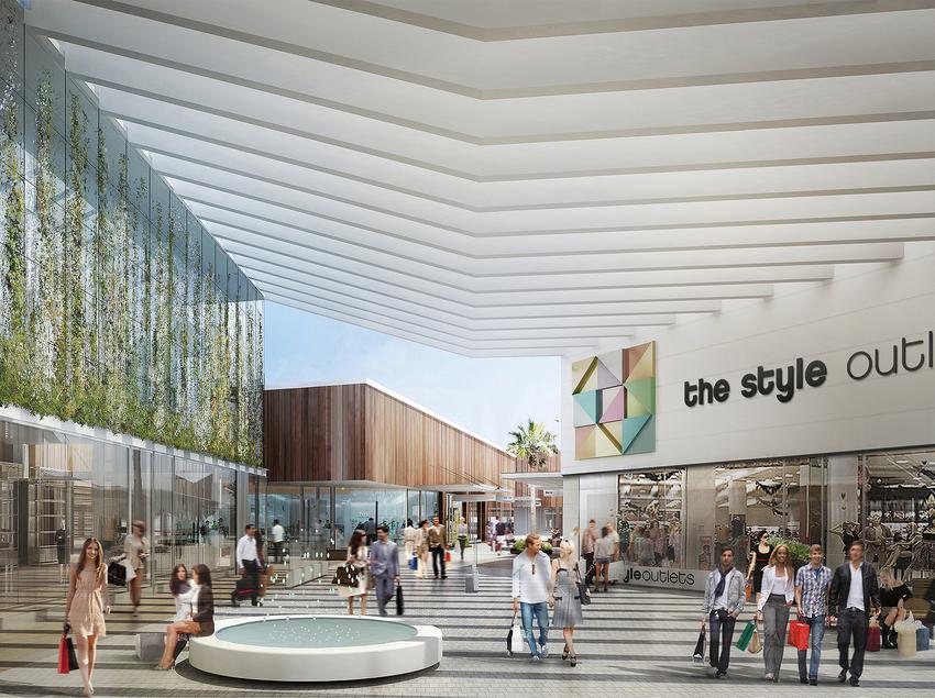 Pasillo interior del centro comercial. (The Style Outlets )