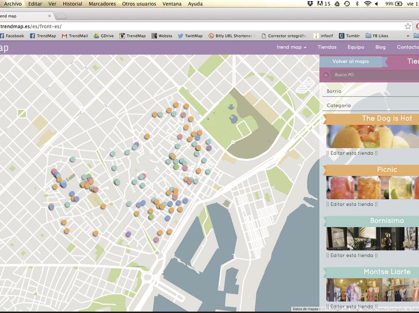 Mapa interactiu de BCN trend map.